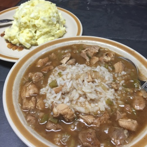 Chicken Gumbo and Potato Salad